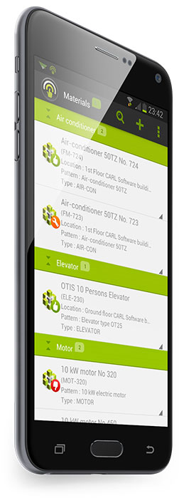 CMMS mobile application