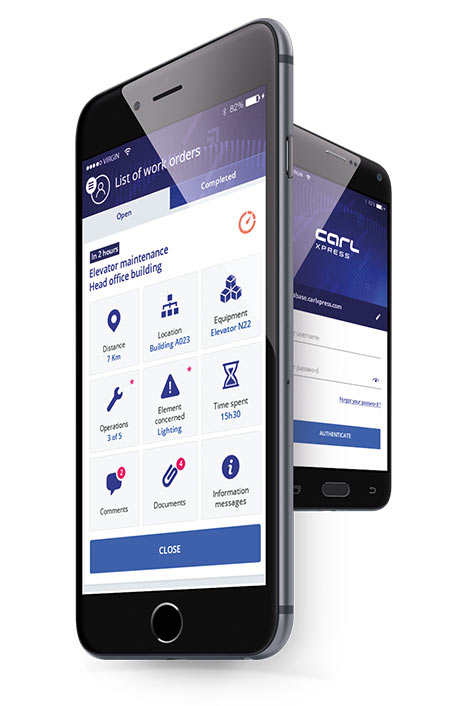 CARL Xpress: Express maintenance reports mobile application.