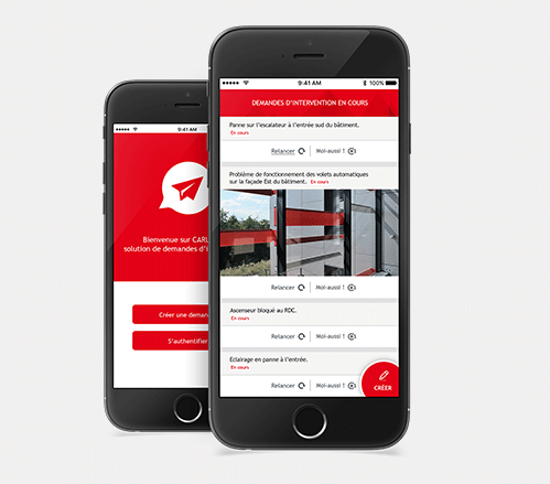 The mobile application to manage requests for services